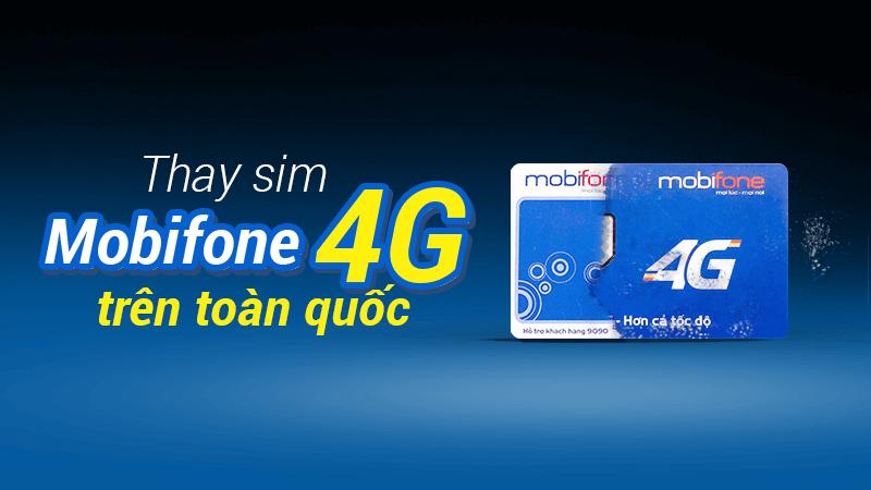 Chuyển sim 3G sang 4G tại nhà mạng Mobifone